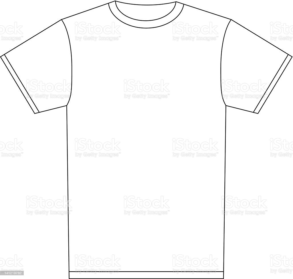 T shirt white blank - Blank White T Shirt For Designing Your Own Shirt Royalty Free Stock Vector Art