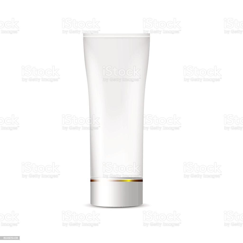 Blank White Tube of cream, packaging vector art illustration