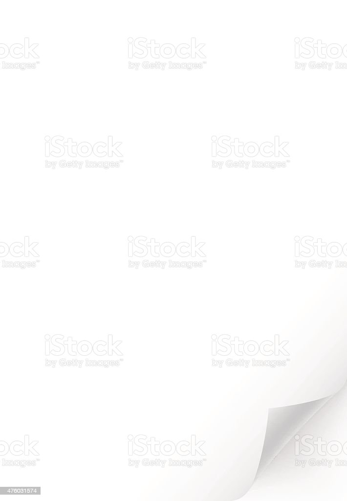 Blank white vertical page vector art illustration