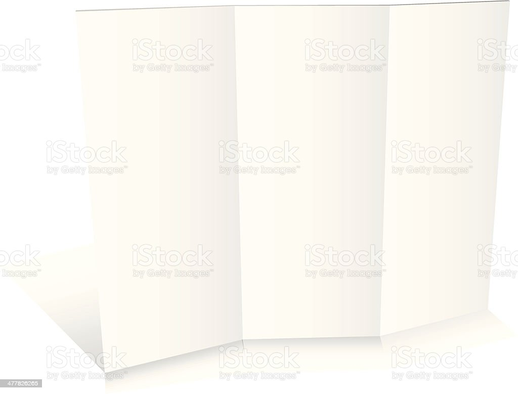Blank white zigzag folded paper royalty-free stock vector art
