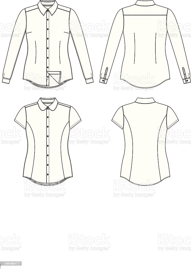 Blank Women's Shirt royalty-free stock vector art