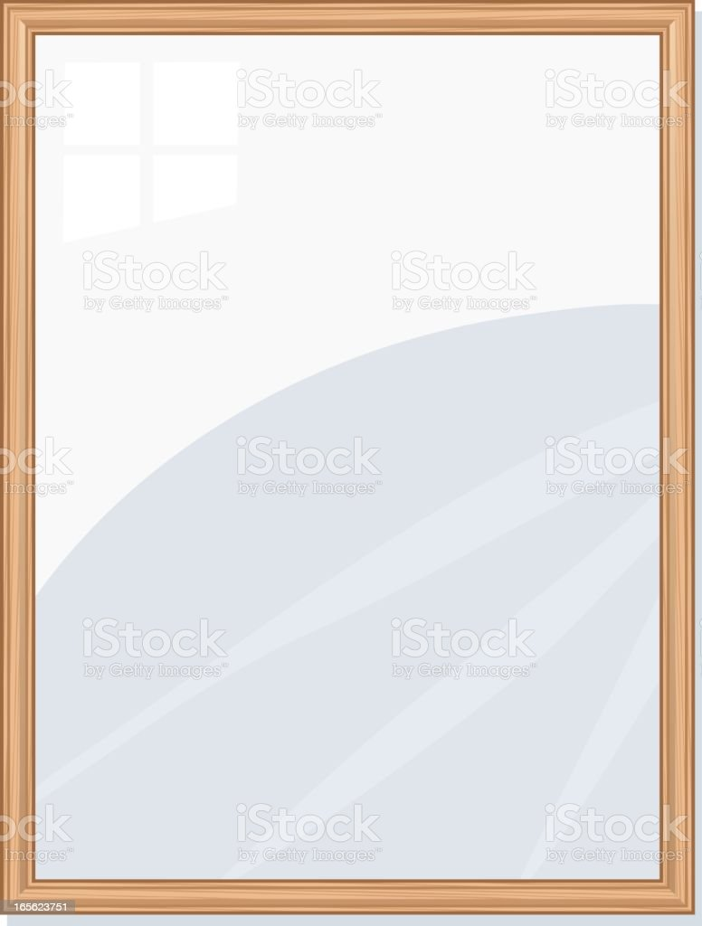 Blank Wooden Frame royalty-free stock vector art