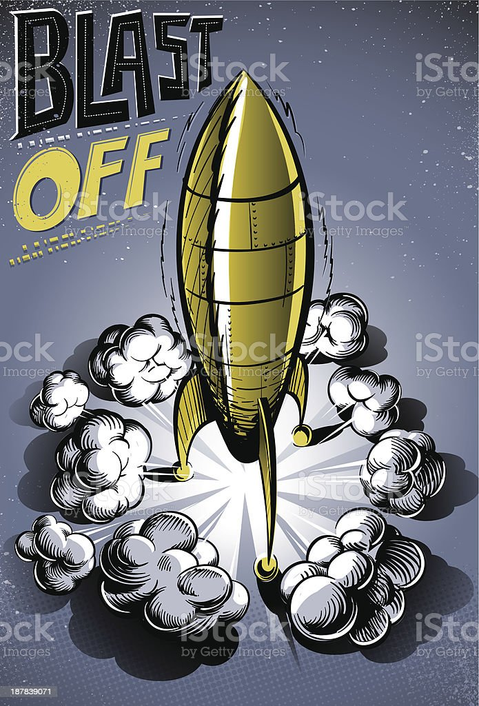 Blast off royalty-free stock vector art