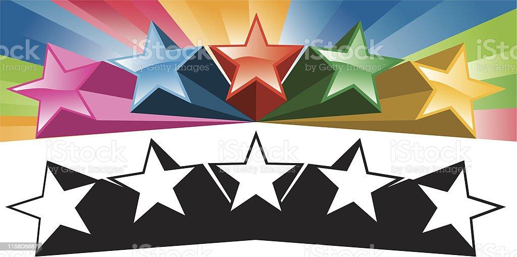 blast stars royalty-free stock vector art