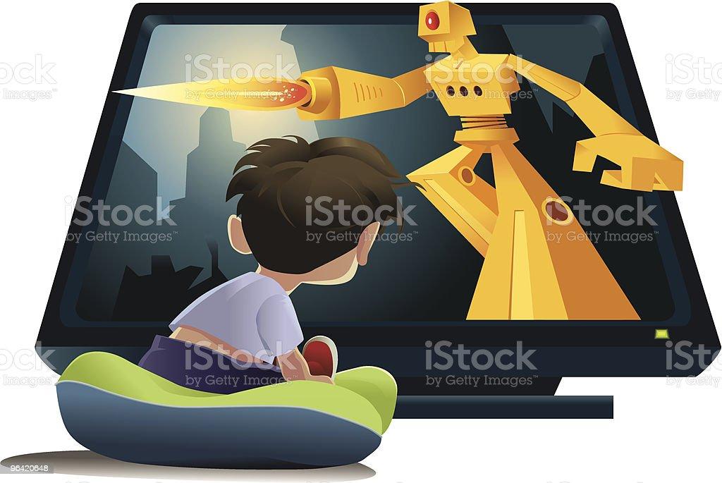 TV Blast vector art illustration