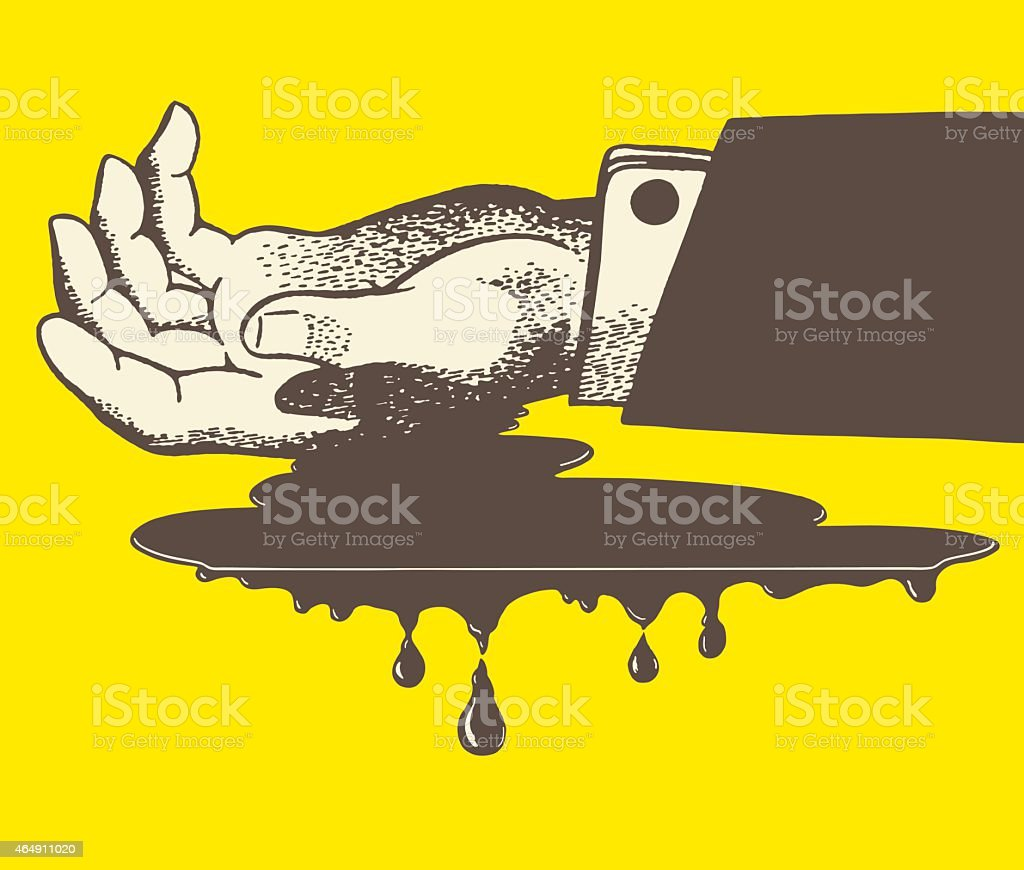 Bleeding Hand vector art illustration