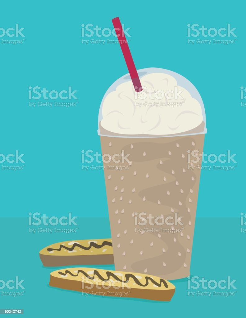 Blended Coffee royalty-free stock vector art