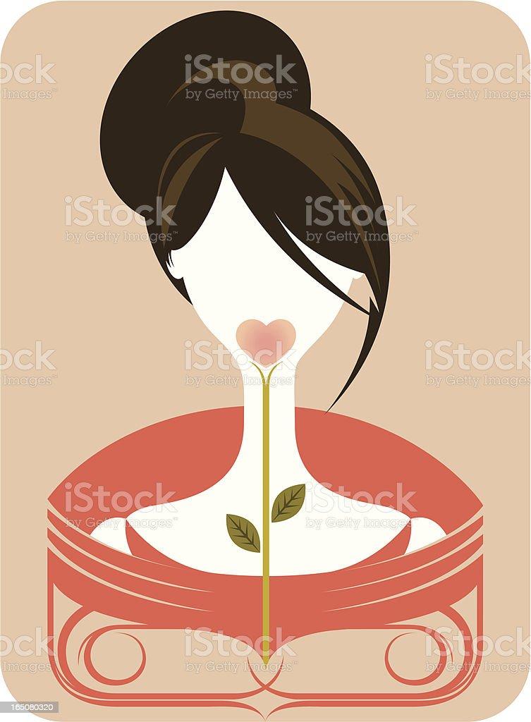 Blind date. royalty-free stock vector art