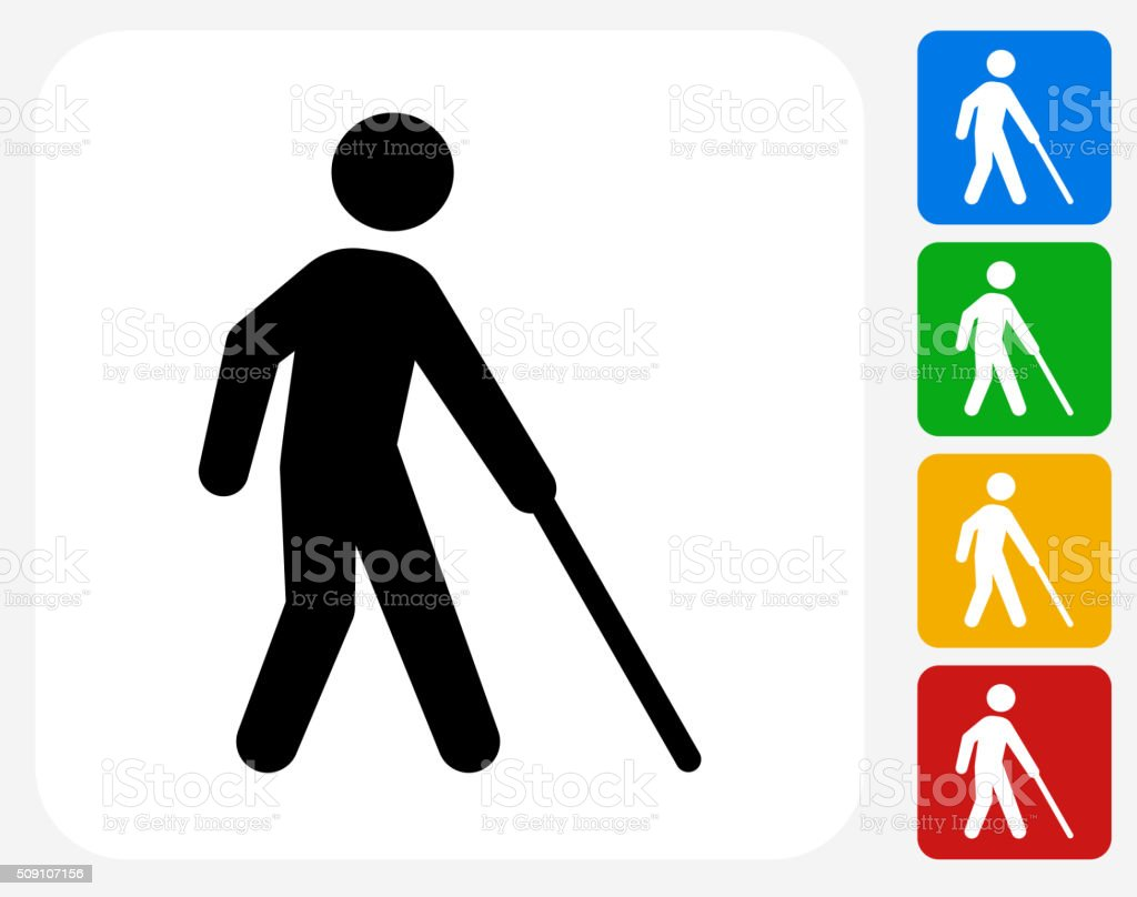 Blind Icon Flat Graphic Design vector art illustration