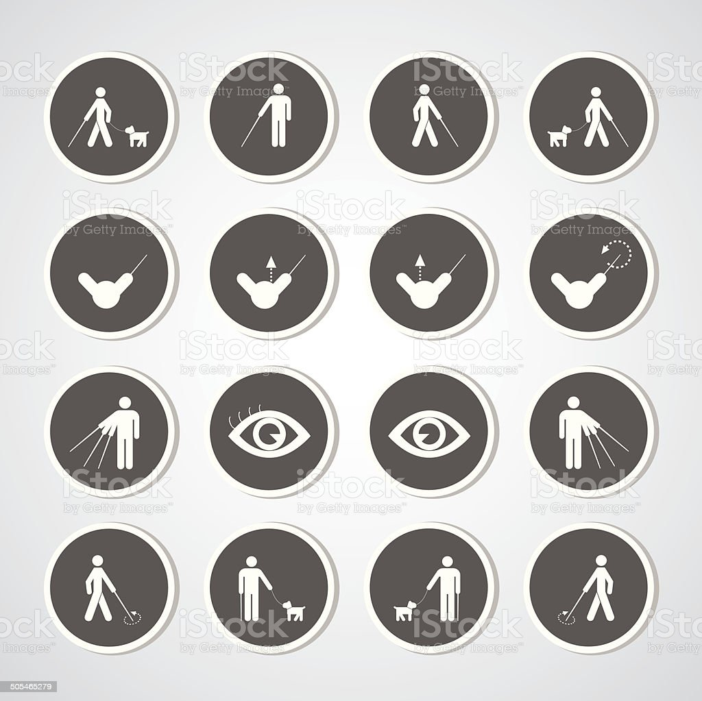 blind man symbol vector art illustration