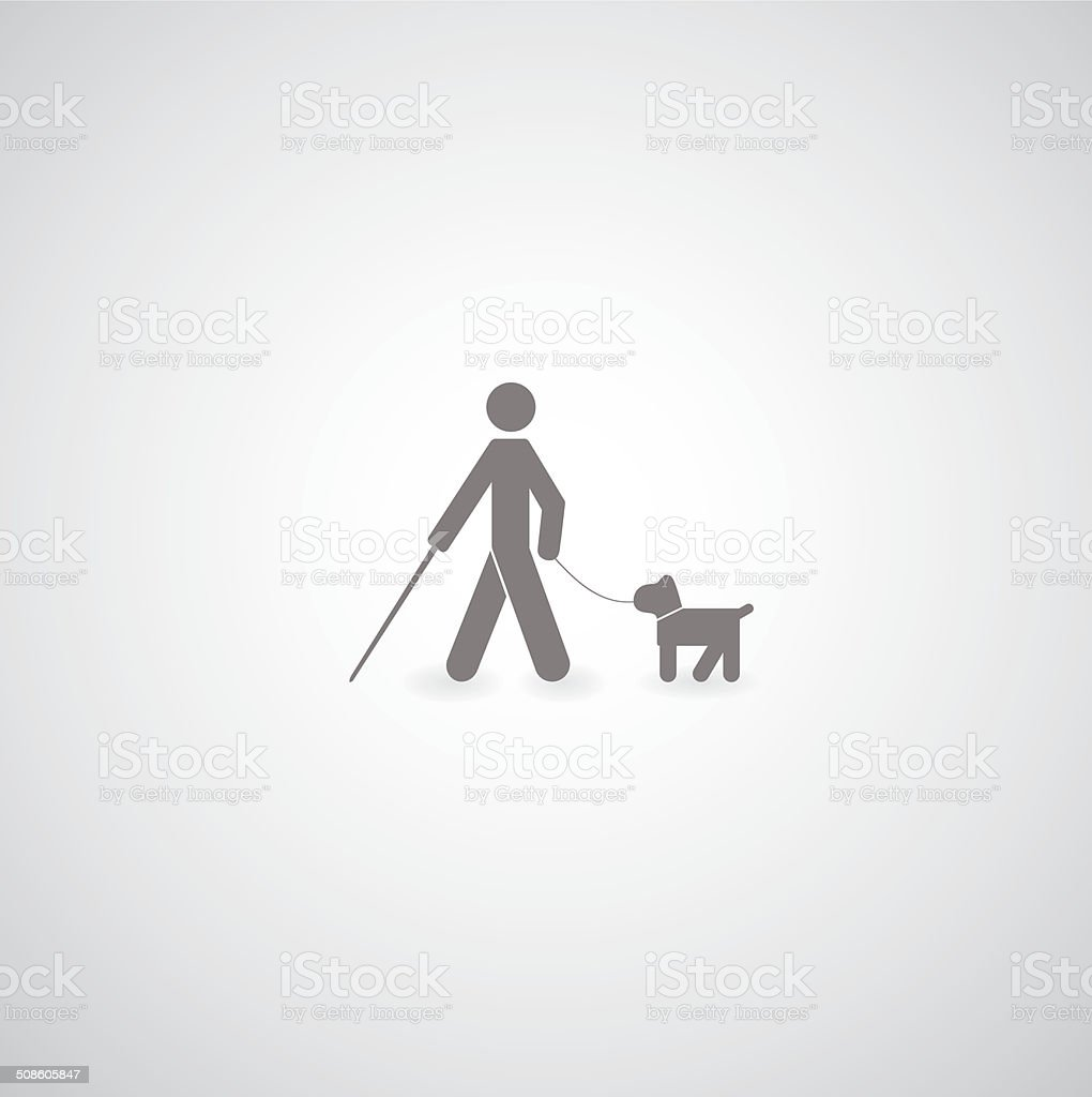 blind symbol vector art illustration
