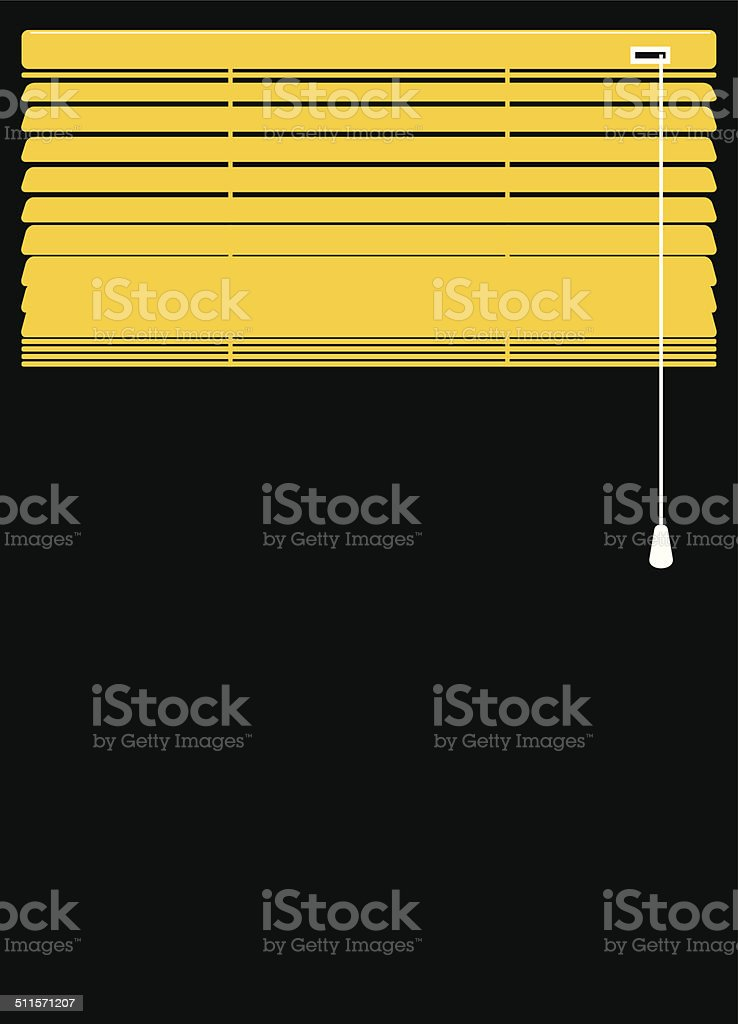 Blinds closed up vector art illustration