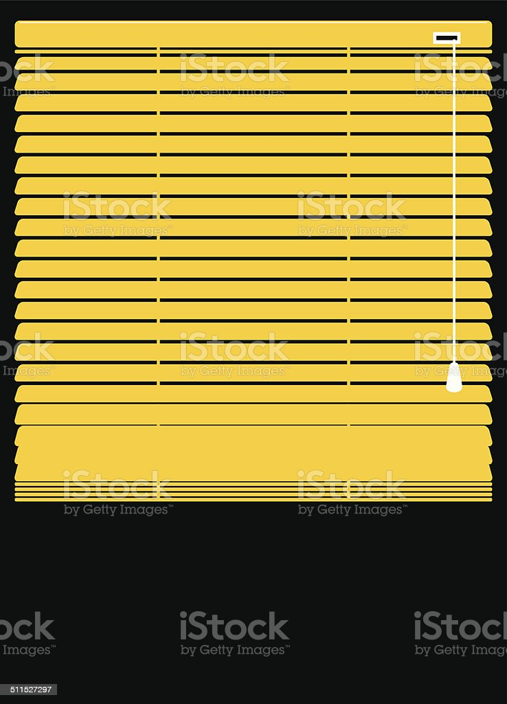 Blinds closed vector art illustration