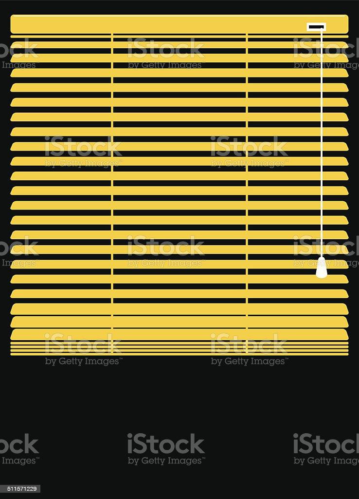 Blinds open vector art illustration