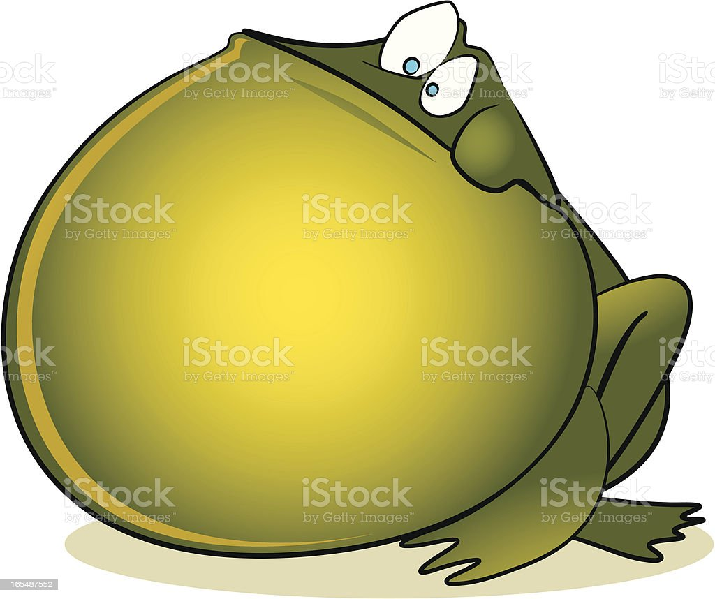 Bloated Frog Cartoon royalty-free stock vector art
