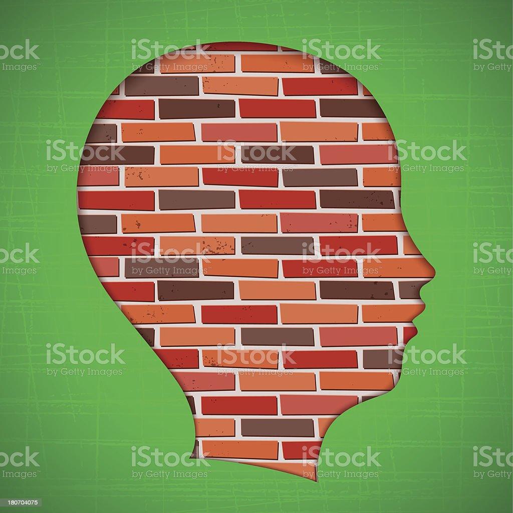 Blocked Head vector art illustration