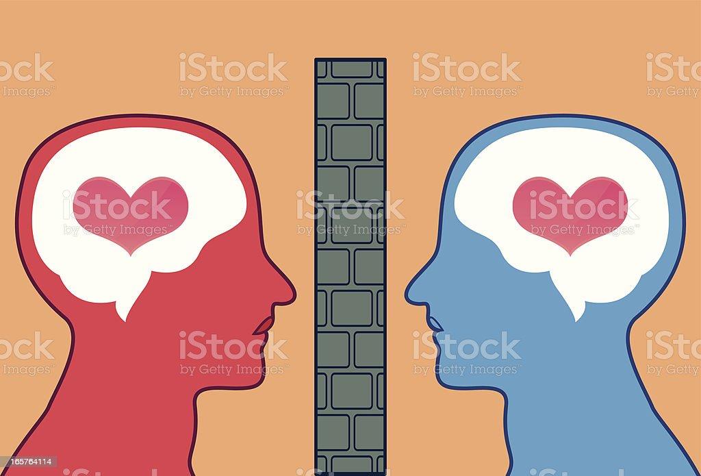 Blocked love vector art illustration