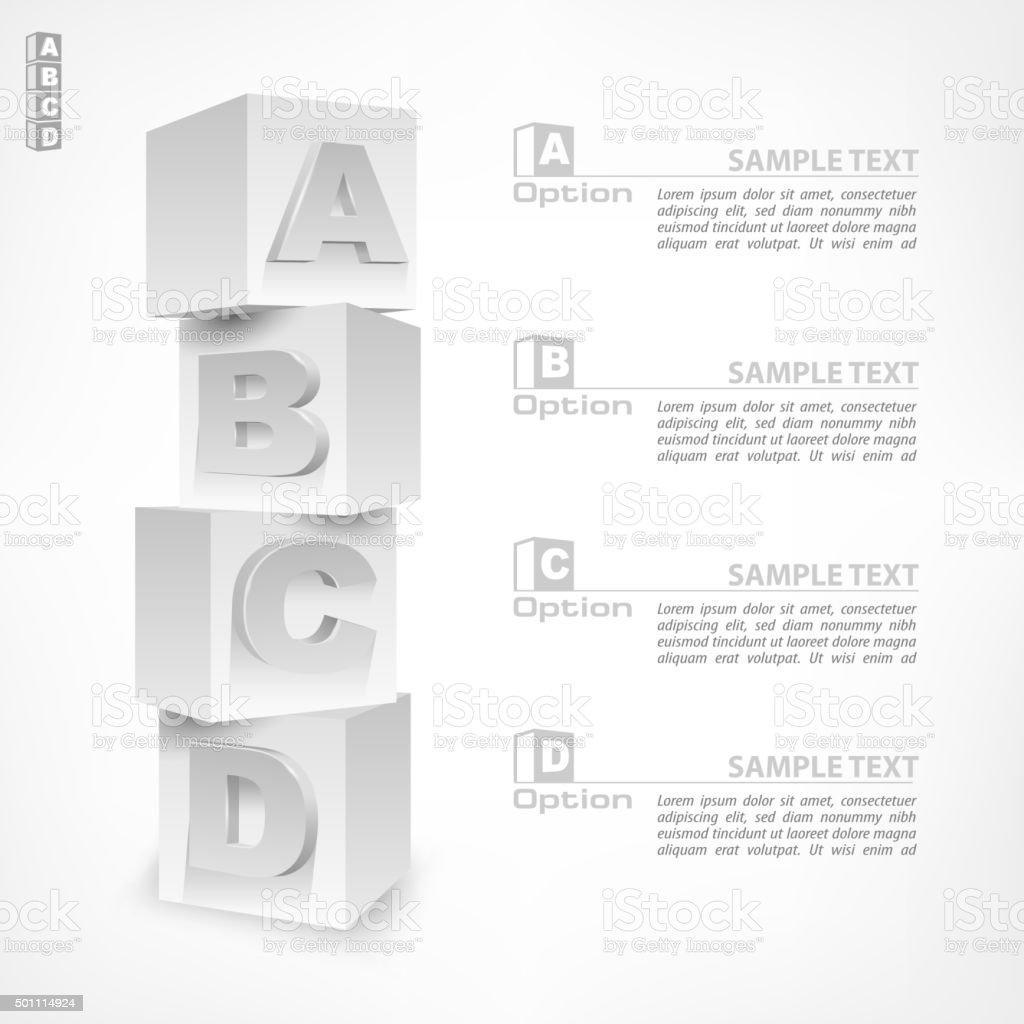 ABC blocks infographic vector art illustration