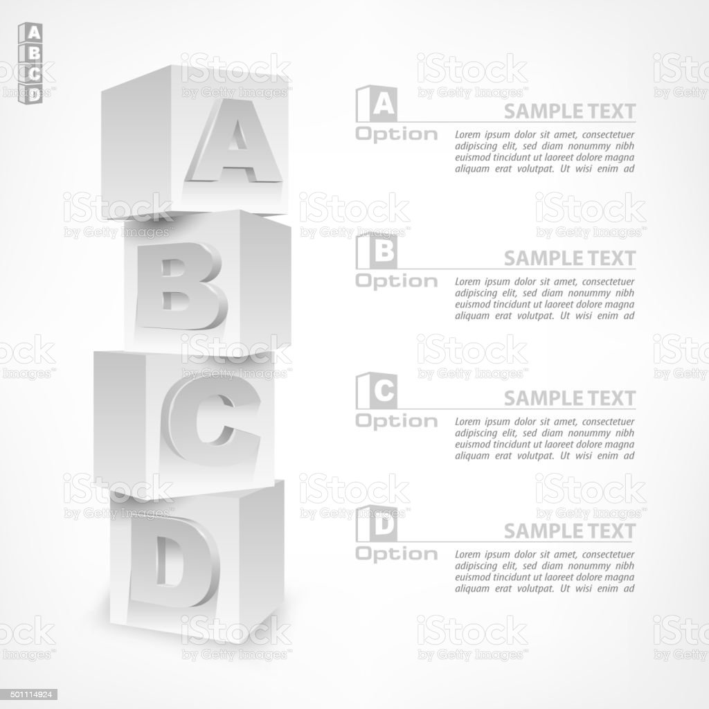 ABC blocks infographic vector art illustration