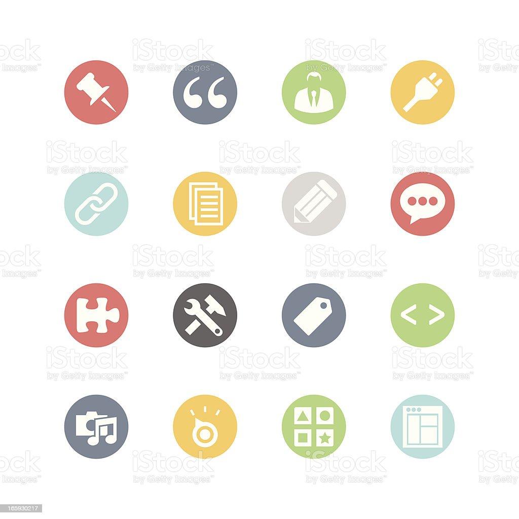 Blog Admin Icons : Minimal Style vector art illustration