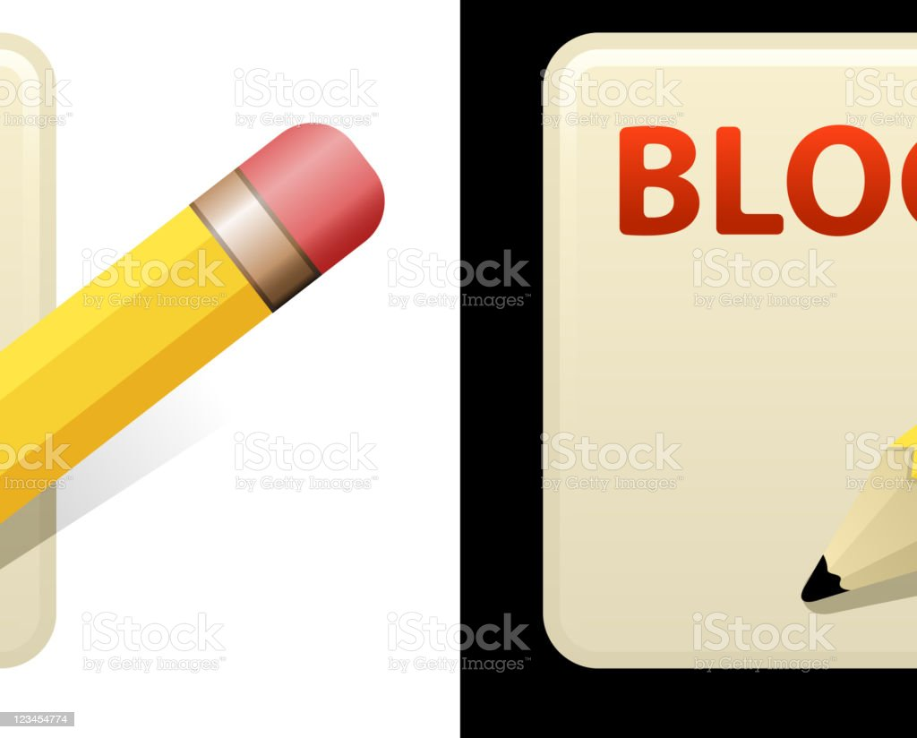 blog design on black and white Backgrounds royalty-free stock vector art