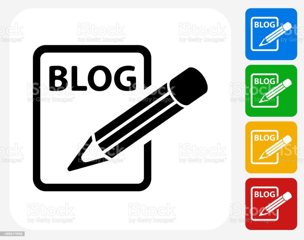 Blog Icon Flat Graphic Design vector art illustration