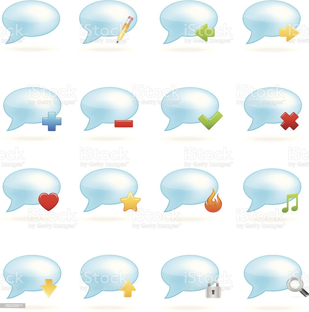 Blog icon set royalty-free stock vector art