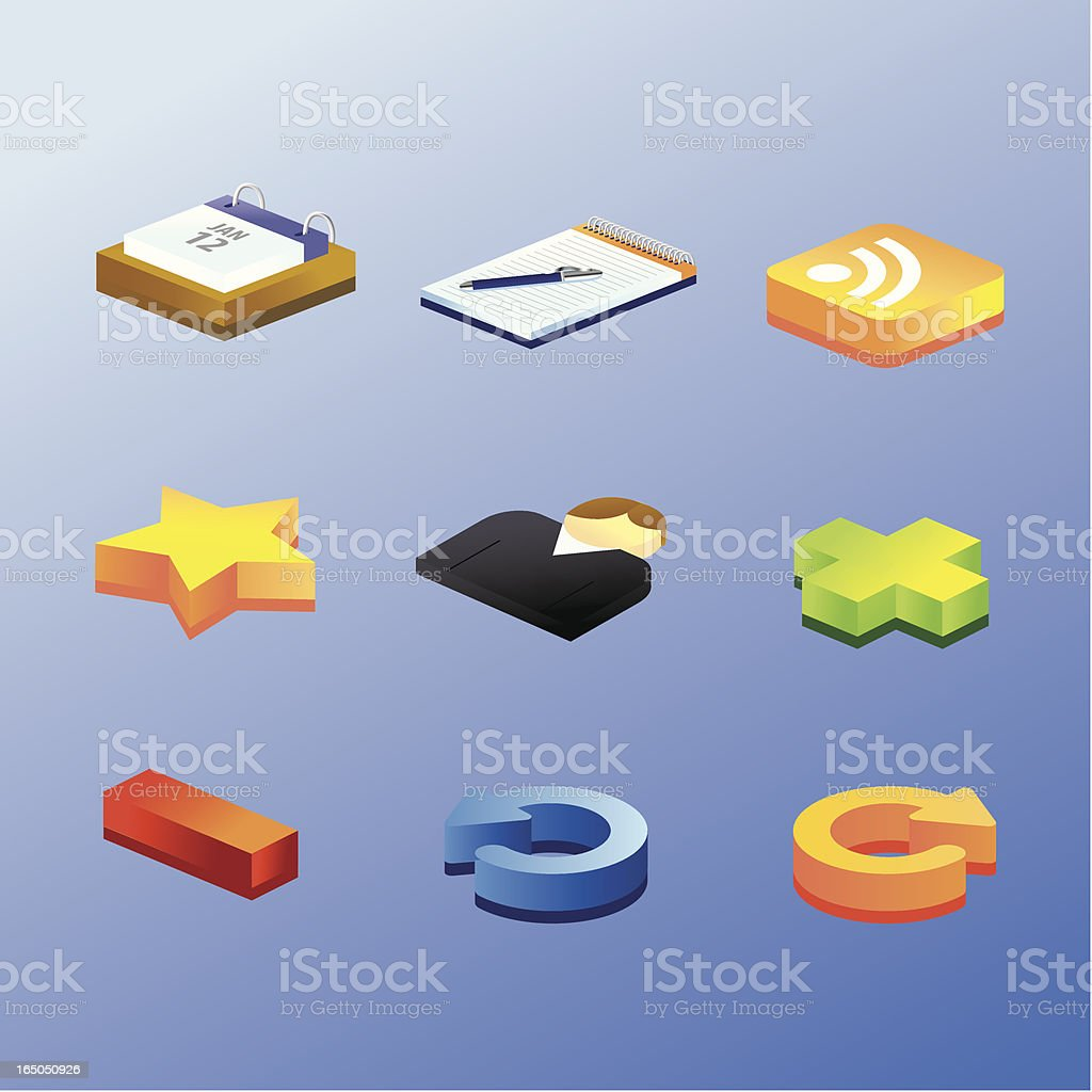 Blog Icons 2 royalty-free stock vector art