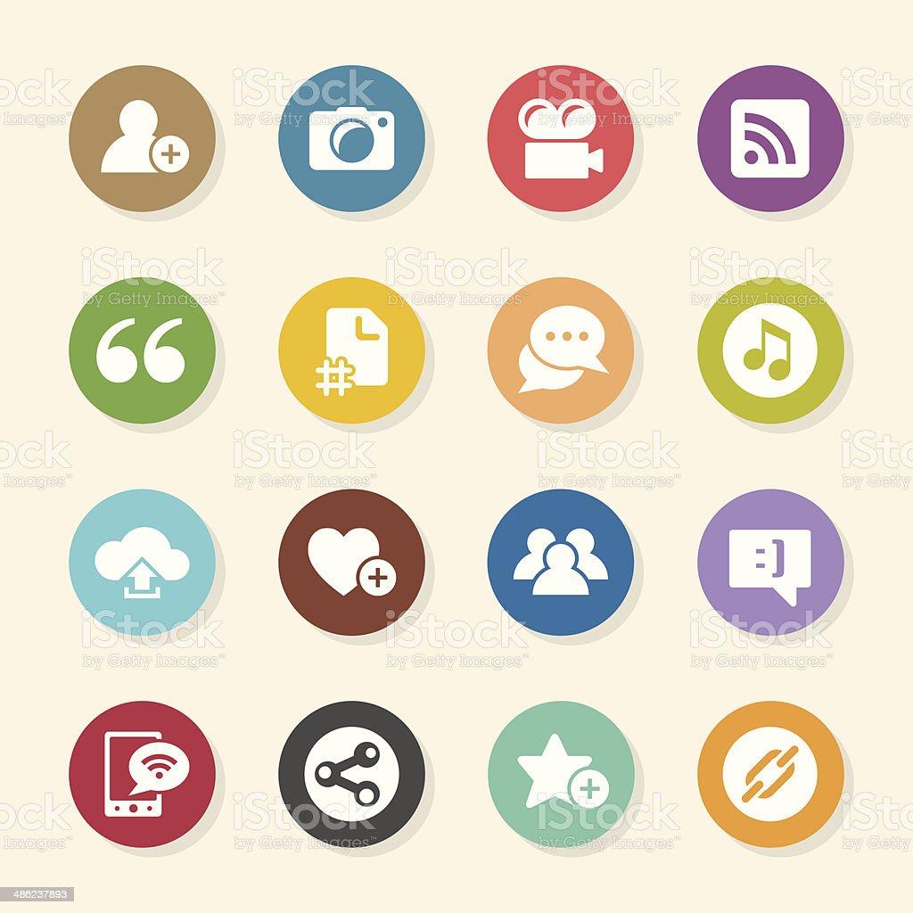 Blog Icons - Color Circle Series vector art illustration
