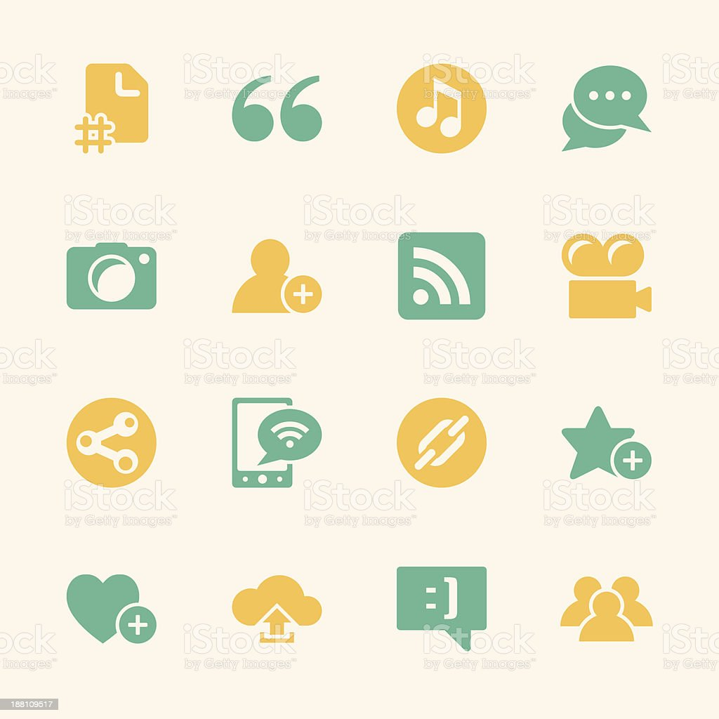 Blog Icons - Color Series vector art illustration