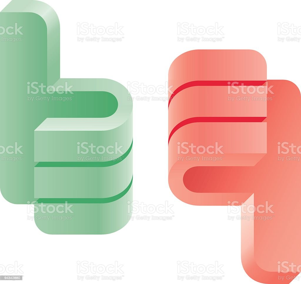 Blog Icons - Thumbs royalty-free stock vector art