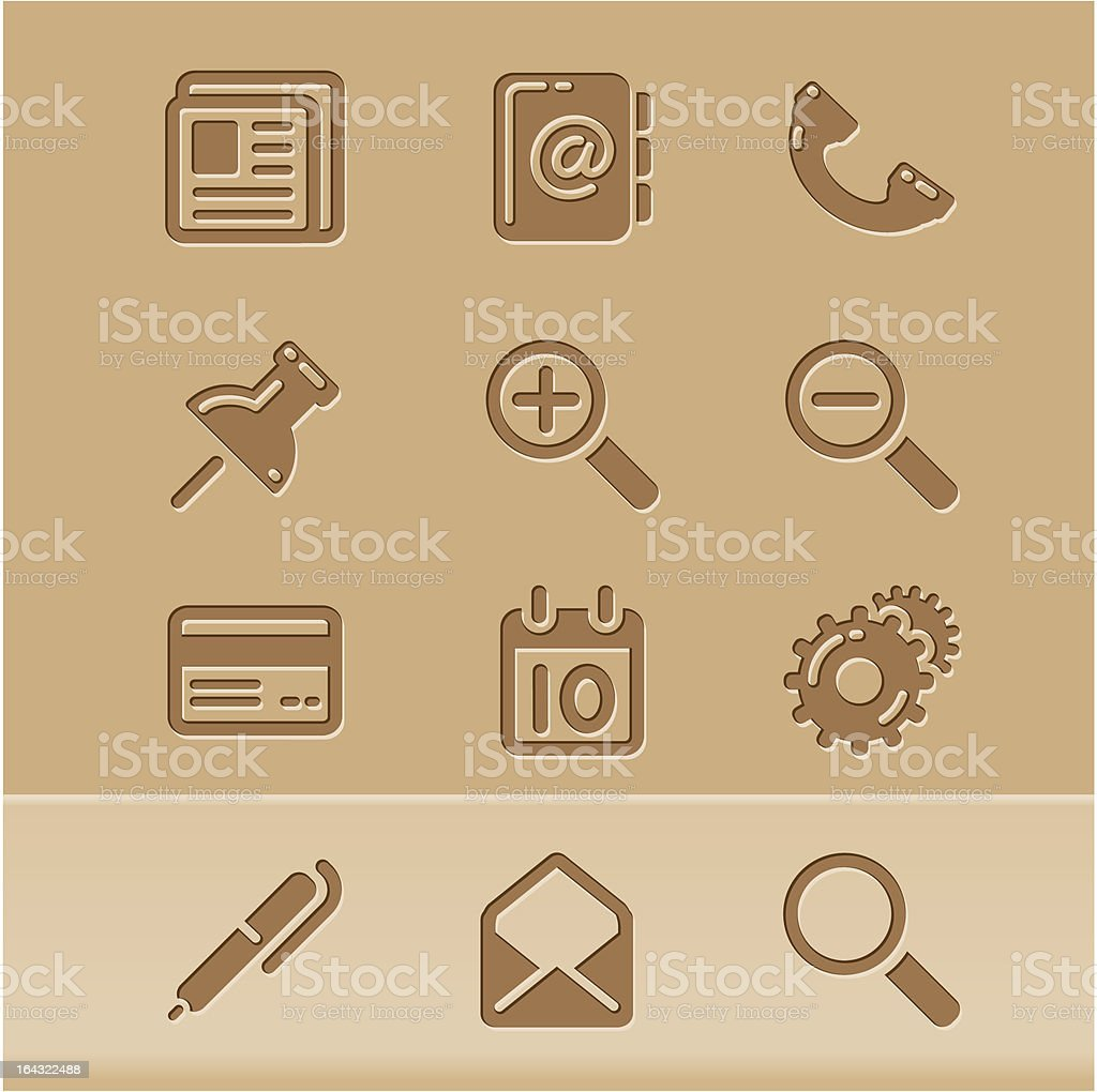 blog icons royalty-free stock vector art