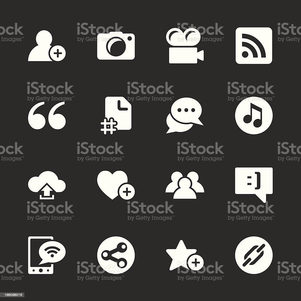 Blog Icons - White Series vector art illustration