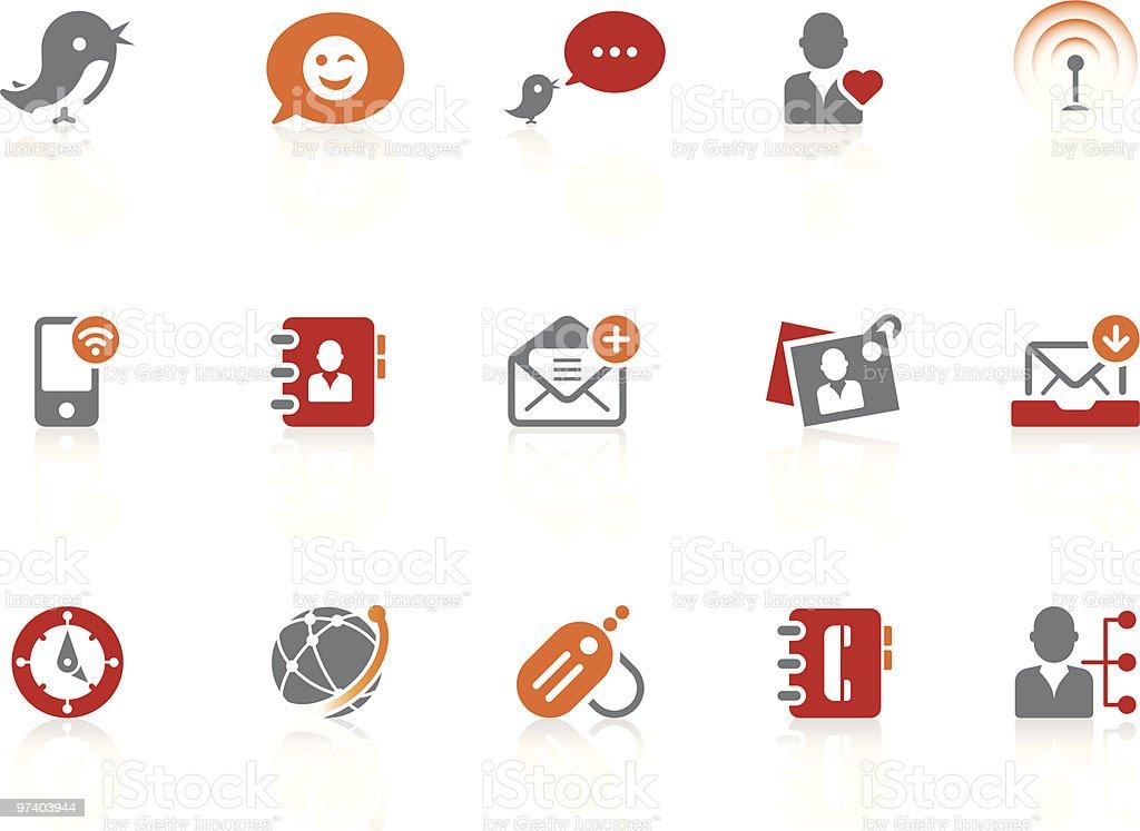 Blog & social media icons | alto series vector art illustration