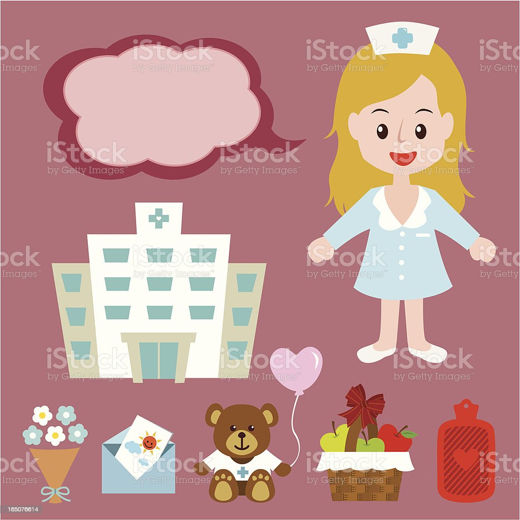 blonde hair nurse royalty-free stock vector art