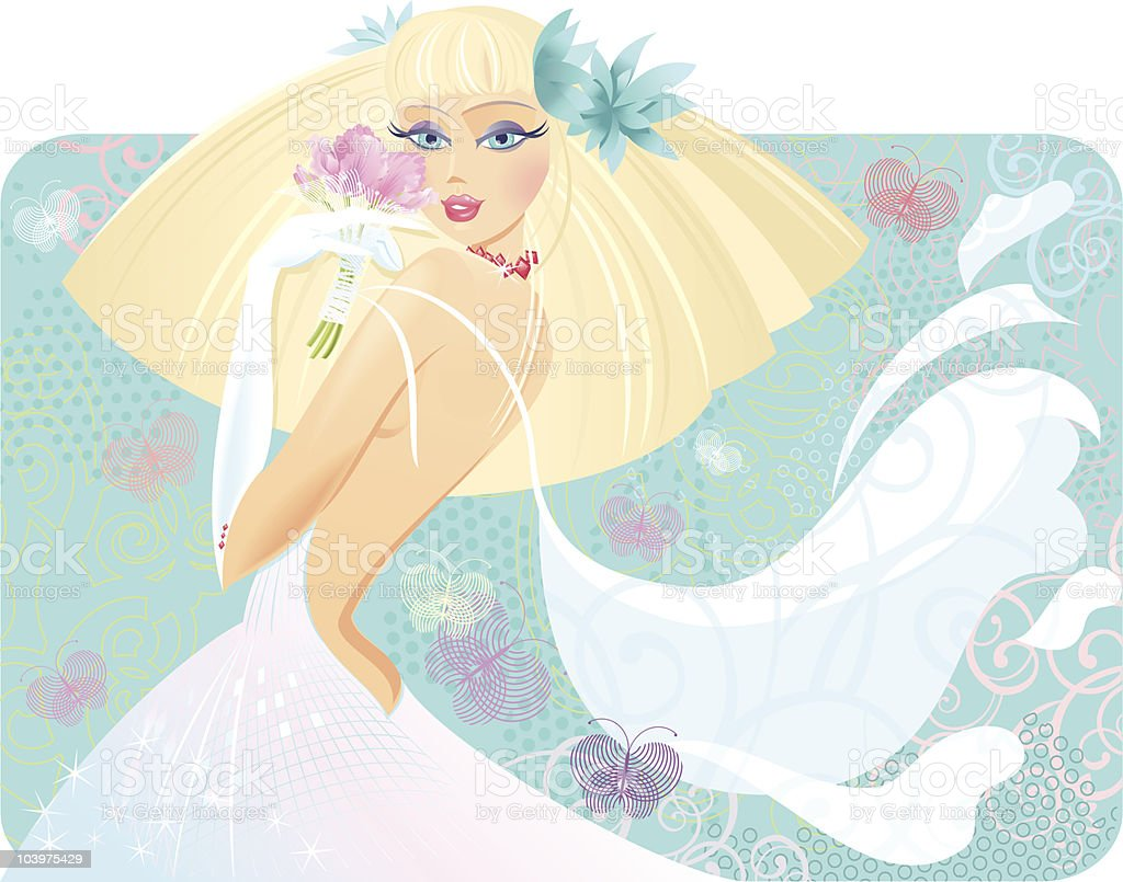 Blondy Bride royalty-free stock vector art