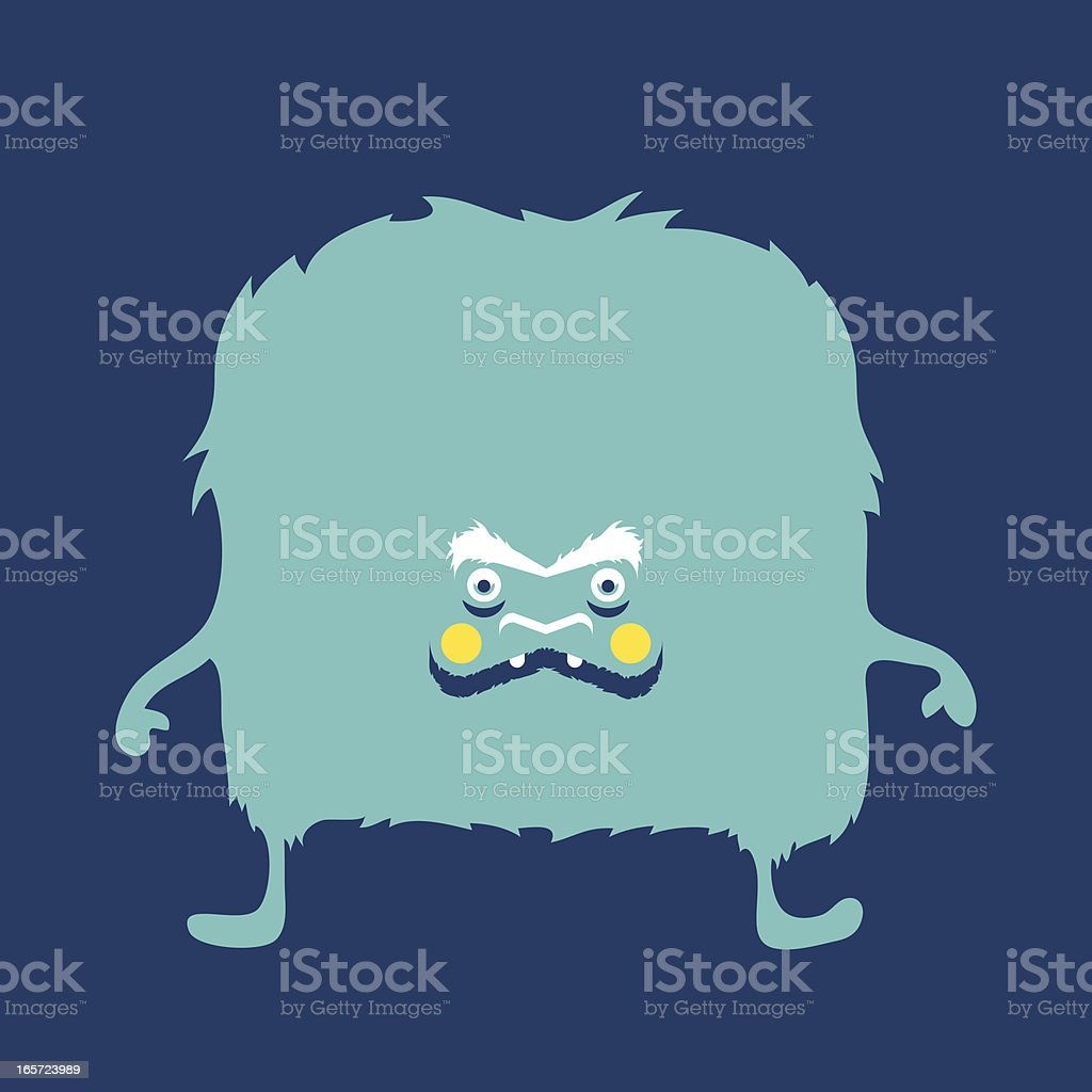 Bloo Mawnster royalty-free stock vector art