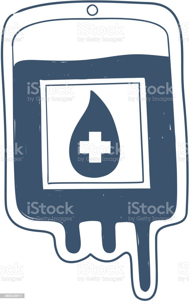 Blood bag isolated on white. royalty-free stock vector art