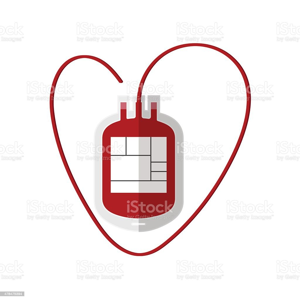 Blood Bag isolated on white,vector vector art illustration