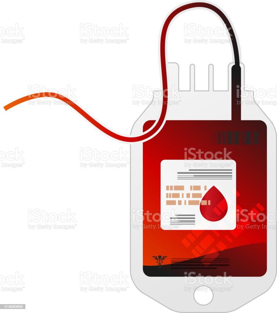 Blood Bag vector art illustration