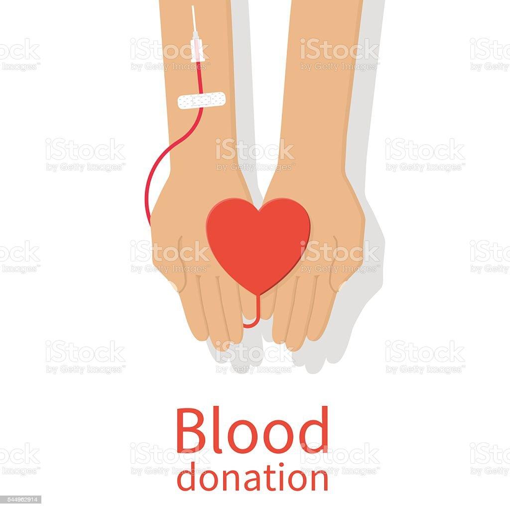 Blood donation concept. vector art illustration