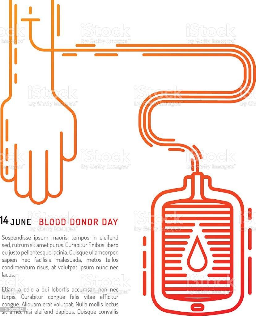 blood donation day vector art illustration