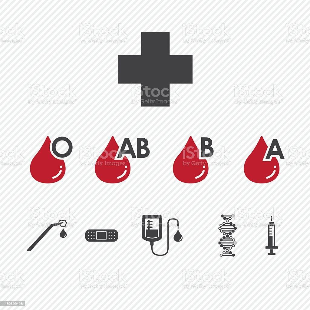 Blood donation Group icons set.illustration eps10 vector art illustration