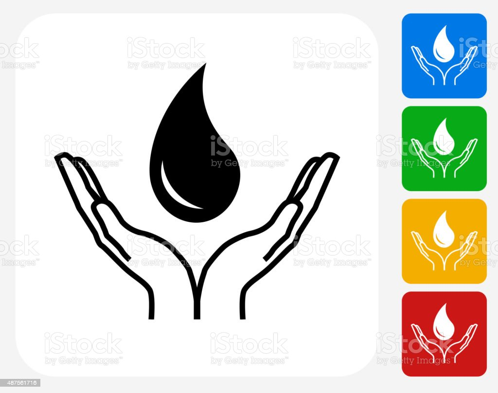 Blood Donation Icon Flat Graphic Design vector art illustration