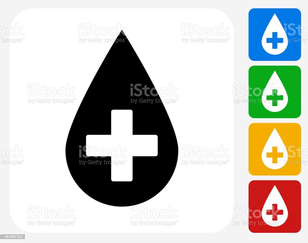 Blood Donation Icon Flat Graphic Design vector art illustration