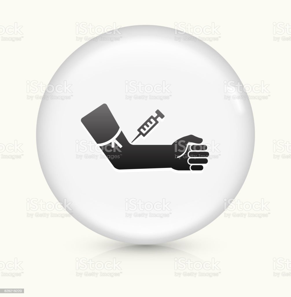 Blood Donation icon on white round vector button vector art illustration