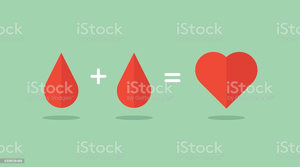 blood donation saves lives vector art illustration