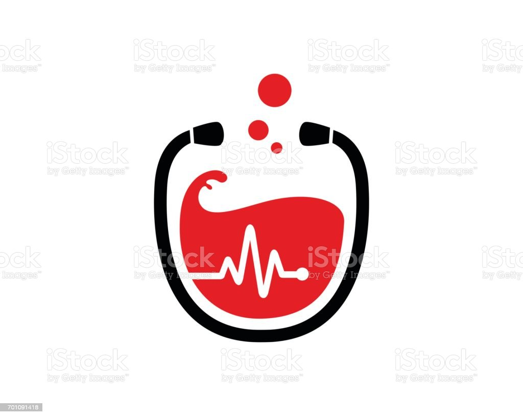 Blood Donation Symbol Template Design Vector, Emblem, Design Concept, Creative Symbol, Icon vector art illustration