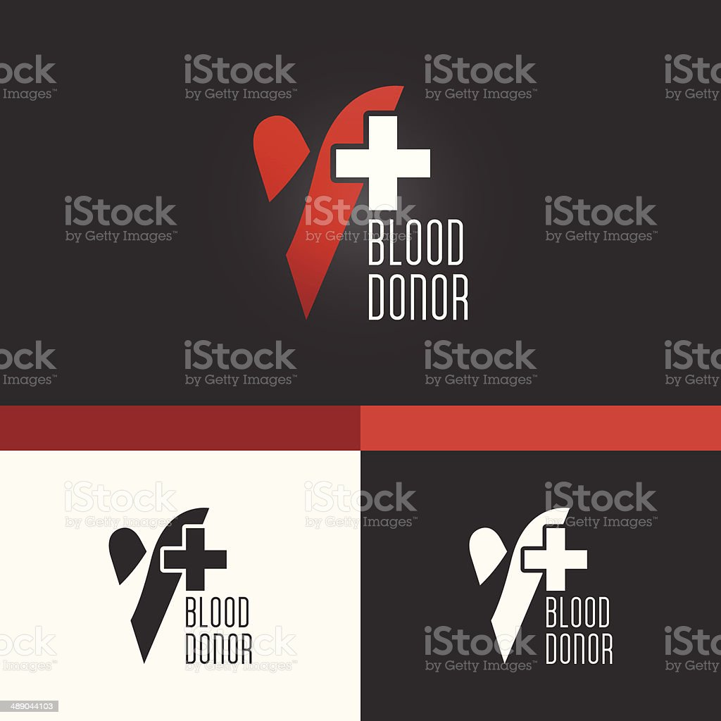 Blood Donation Symbol Template. Vector Elements. Brand Icon Design Illustration royalty-free stock vector art