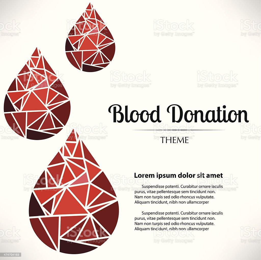 Blood Donation Theme vector art illustration